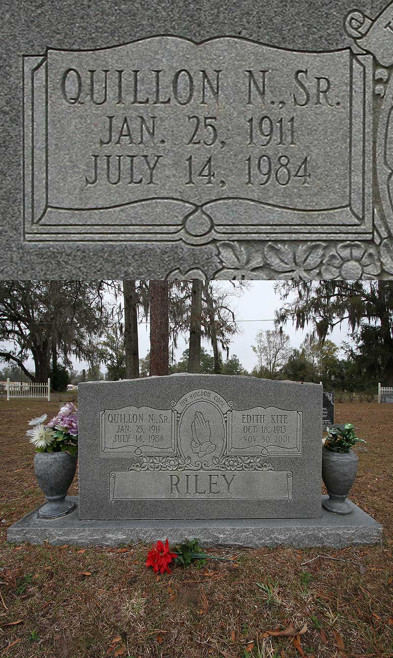 Quillon N Riley Gravestone Photo