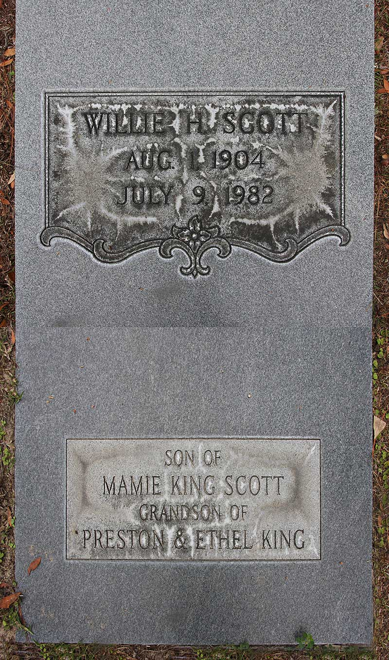 Willie H Scott Gravestone Photo