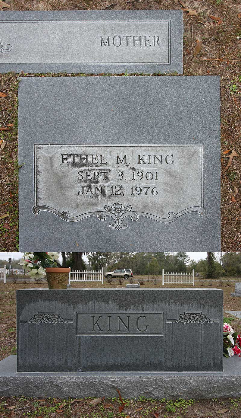 Ethel M King Gravestone Photo
