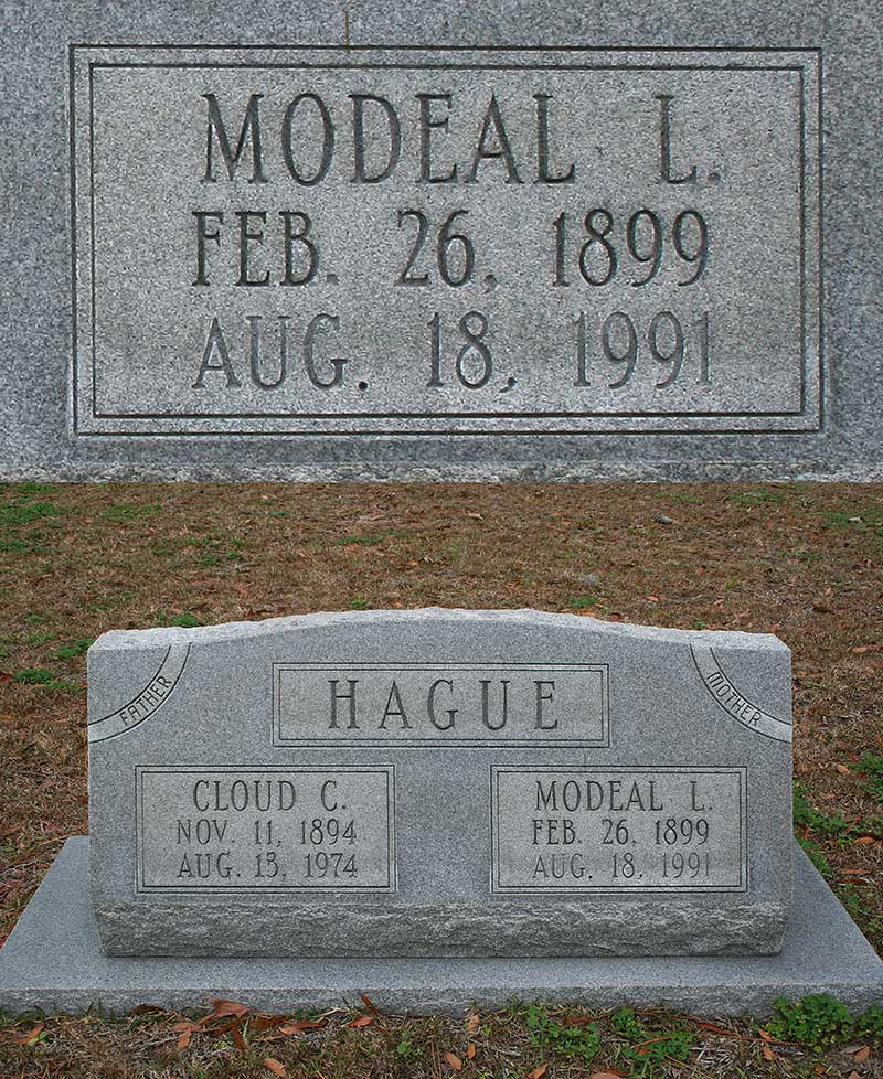 Modeal L. Hague Gravestone Photo