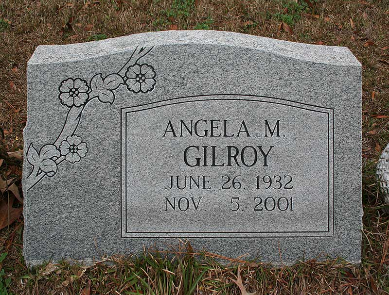 Angela M. Gilroy Gravestone Photo