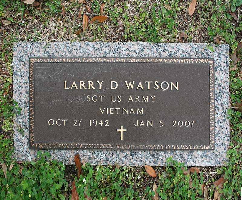 Larry D. Watson Gravestone Photo