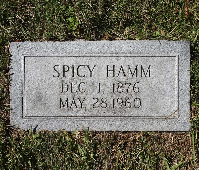 Spicy Hamm Gravestone Photo