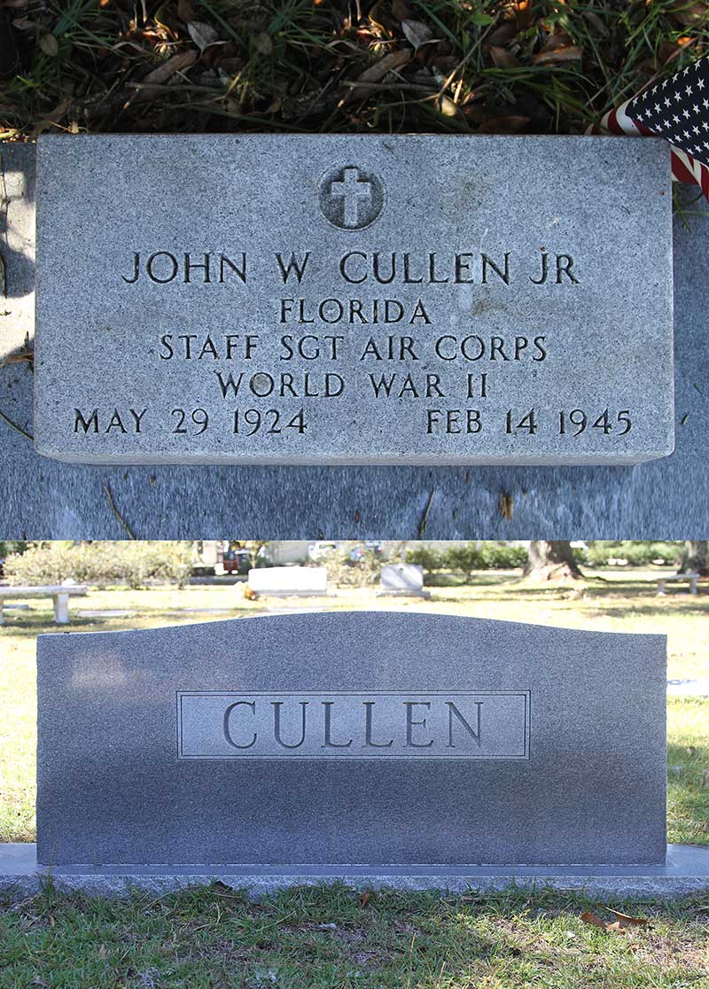 John W. Cullen Gravestone Photo