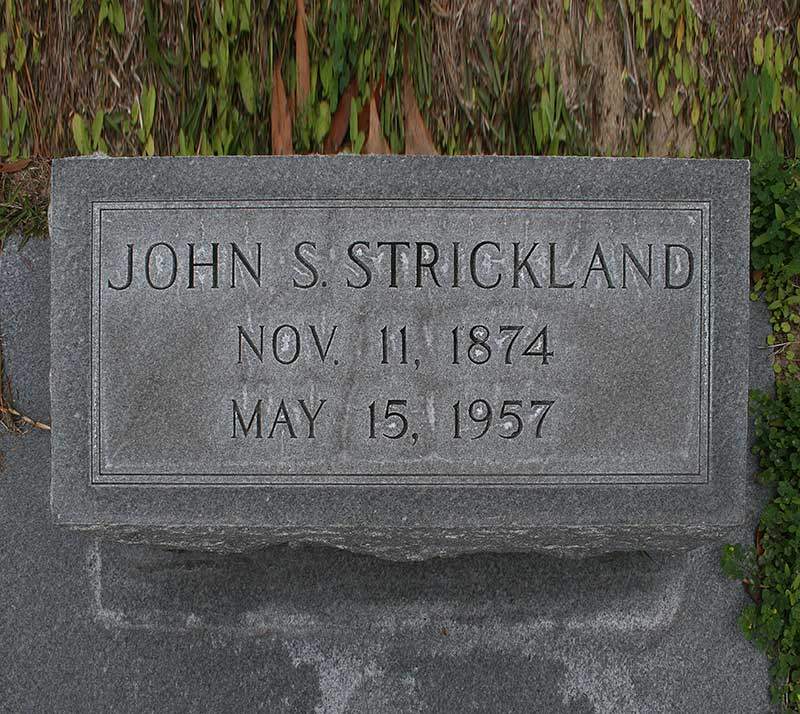 John S. Strickland Gravestone Photo