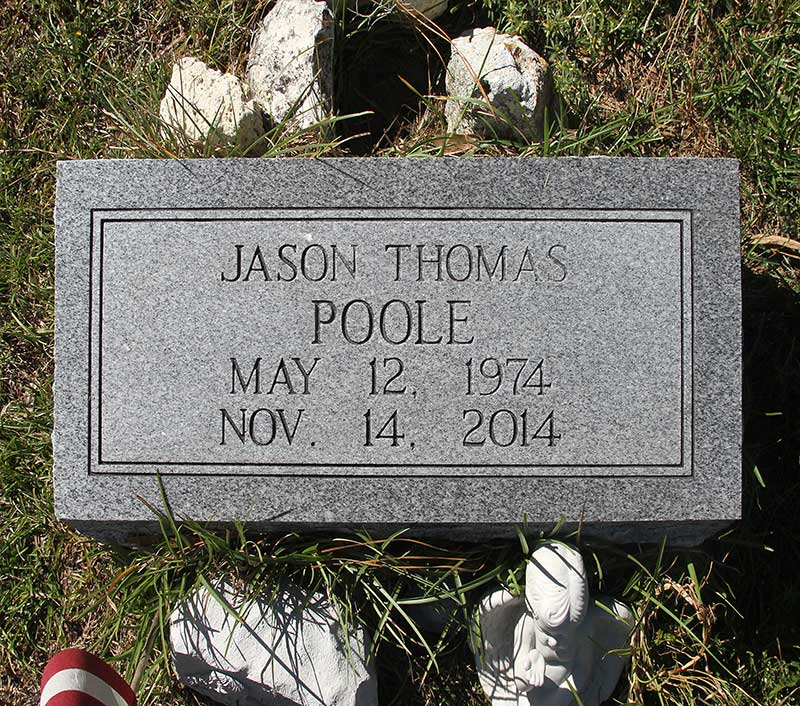 Jason Thomas Poole Gravestone Photo
