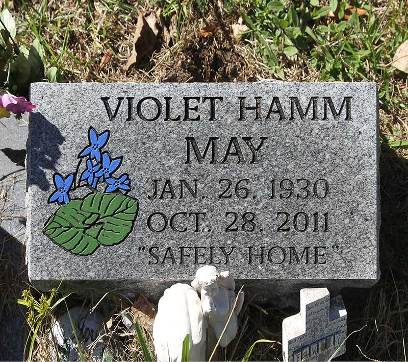 Violet Hamm May Gravestone Photo