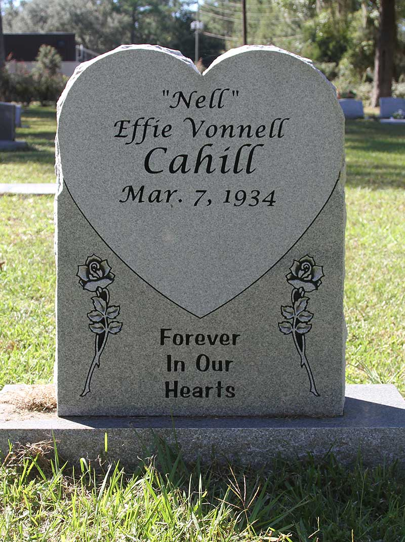 Effie Vonnell Cahill Gravestone Photo