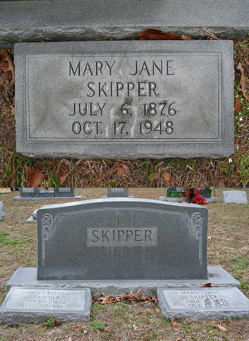 Mary Jane Skipper Gravestone Photo