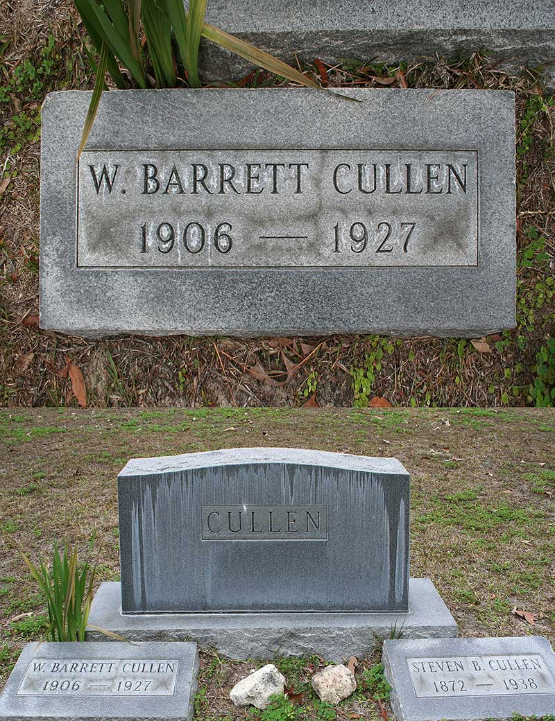 W. Barrett Cullen Gravestone Photo