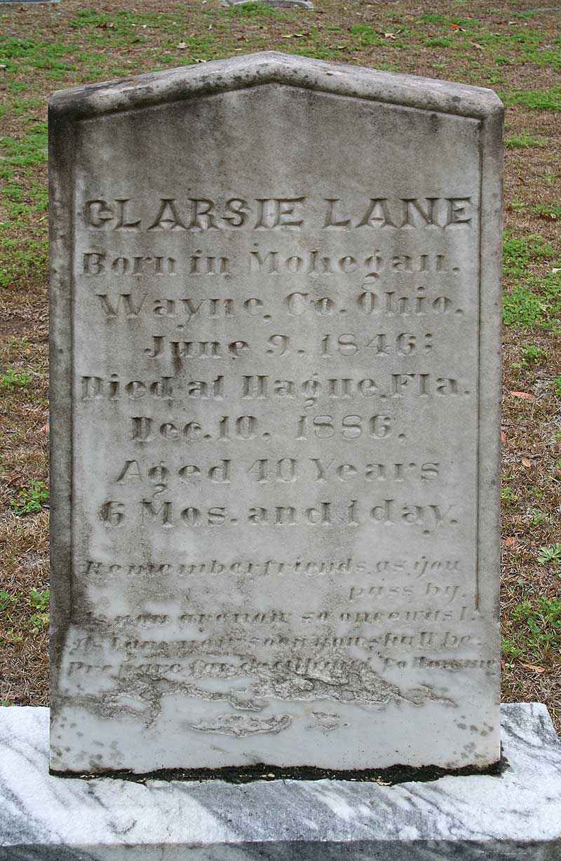 Clarsie Lane Gravestone Photo