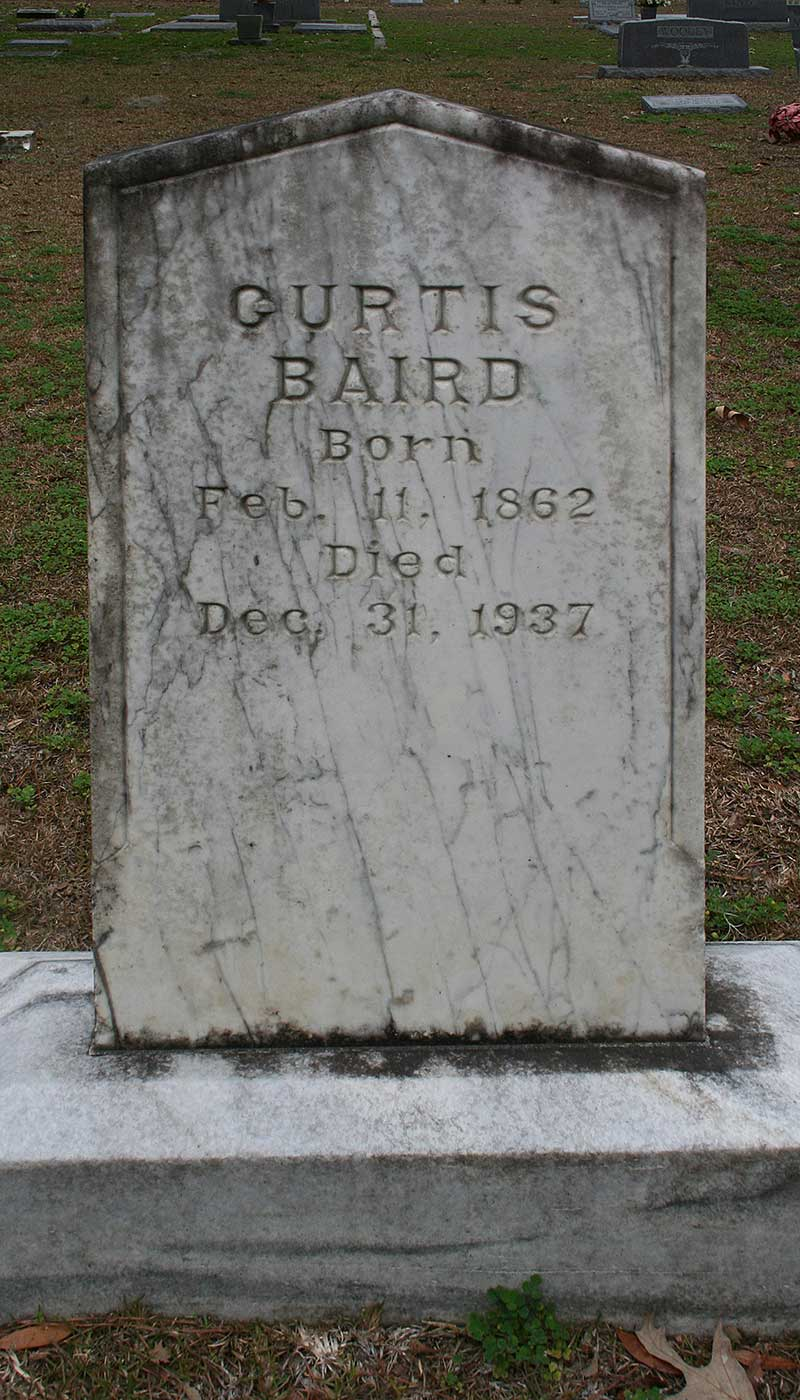 Curtis Baird Gravestone Photo