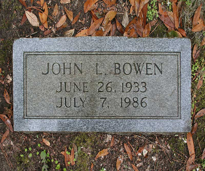 John L Bowen Gravestone Photo