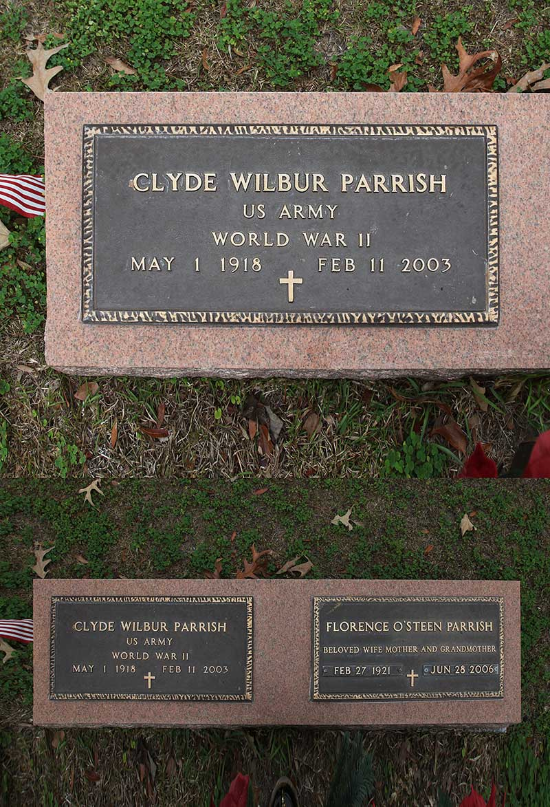 Clyde Wilbur Parrish Gravestone Photo