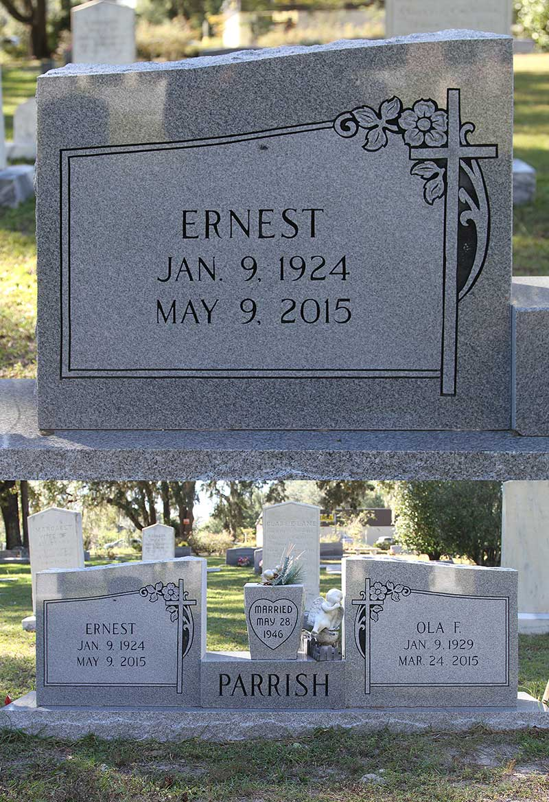 Ernest Parrish Gravestone Photo
