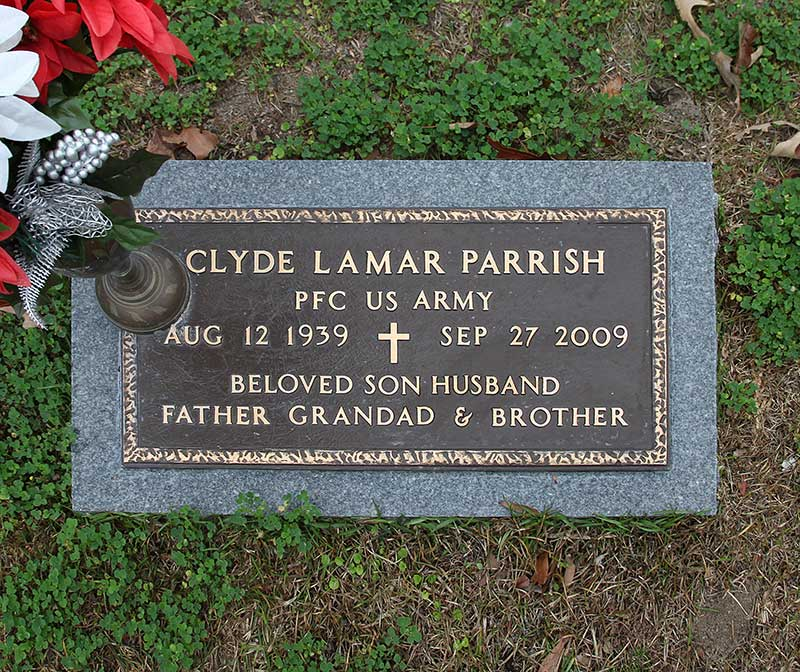 Clyde Lamar Parrish Gravestone Photo