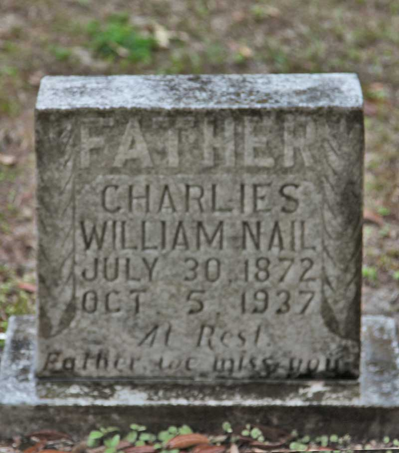 Charlies William Nail Gravestone Photo