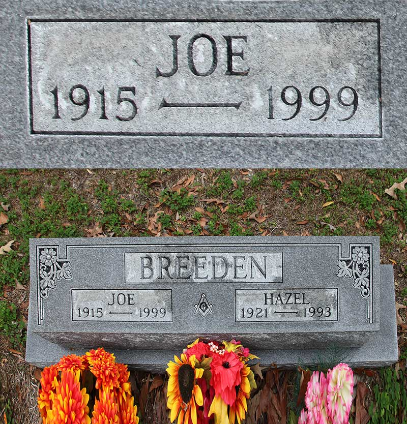 Joe Breeden Gravestone Photo