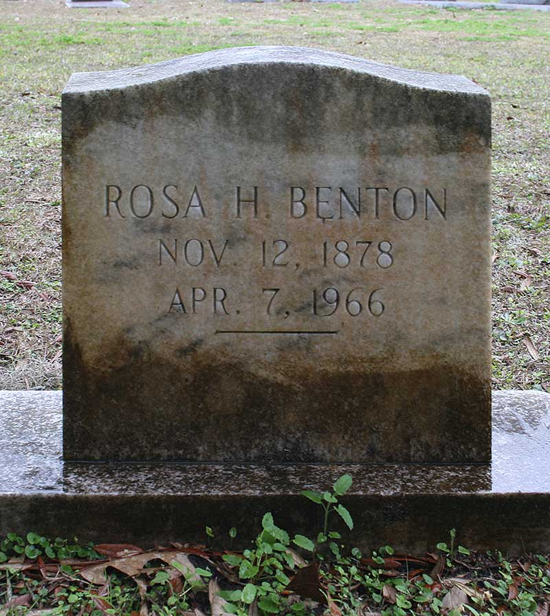 Rosa H Benton Gravestone Photo