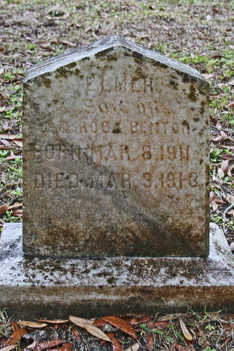 Elmer Benton Gravestone Photo