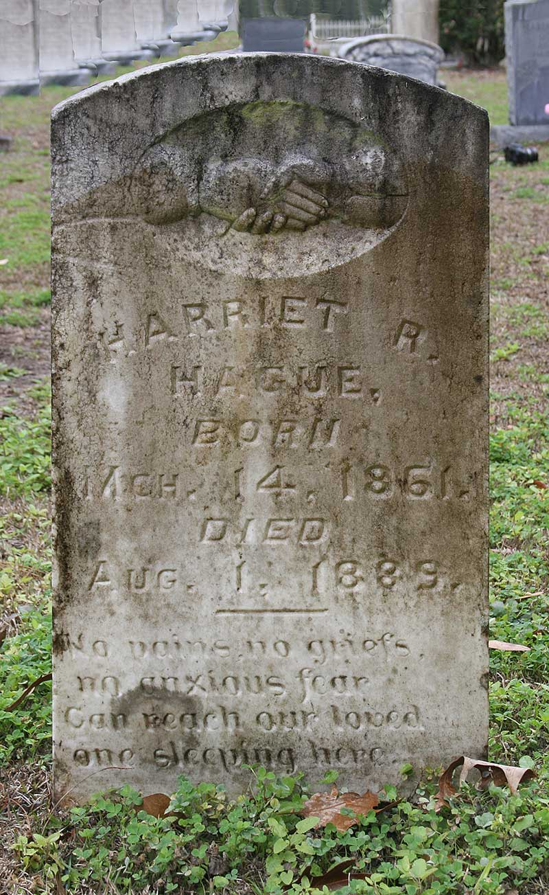 Harriet R Hague Gravestone Photo