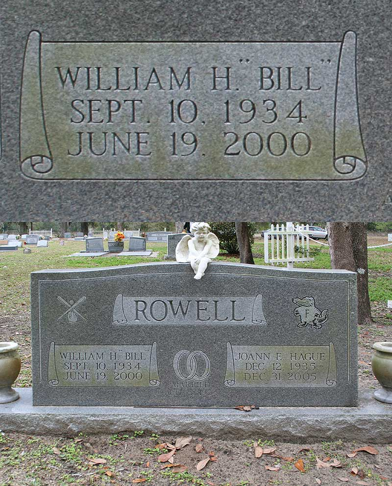 William H (Bill) Rowell Gravestone Photo