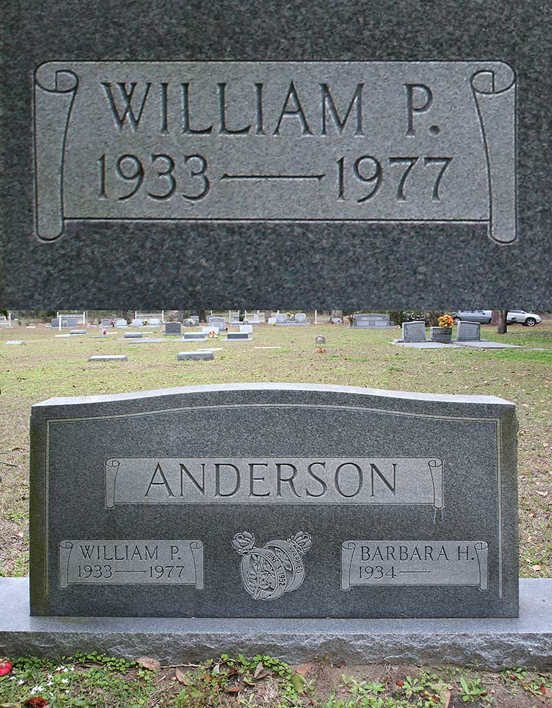 William P Anderson Gravestone Photo