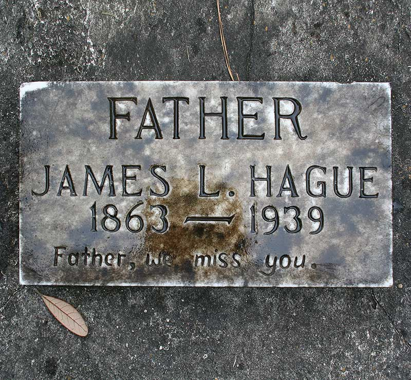 James L Hague Gravestone Photo