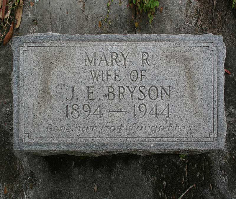 Mary R Bryson Gravestone Photo