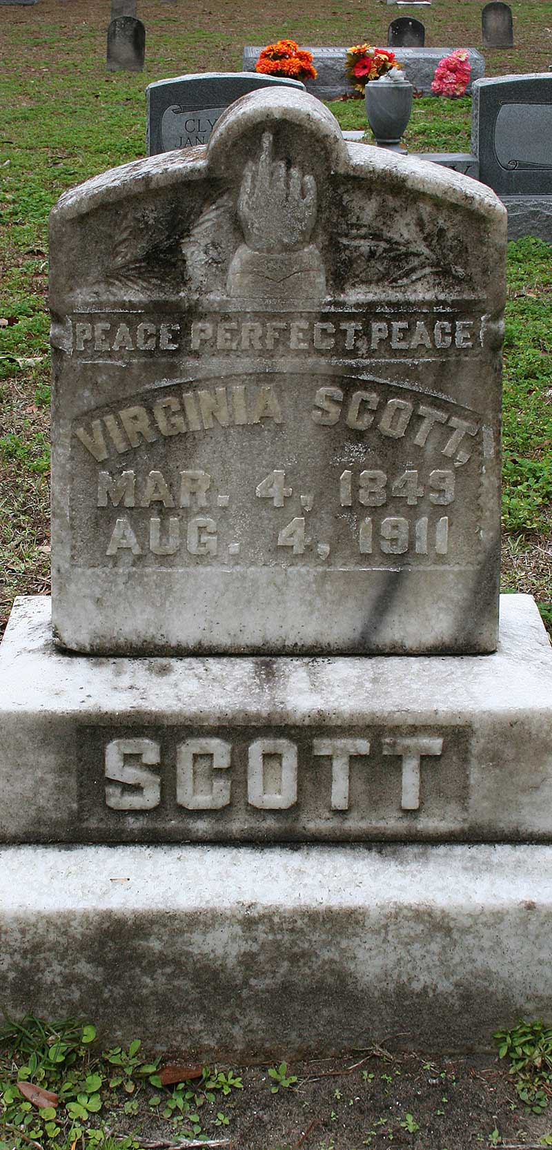 Virginia Scott Gravestone Photo