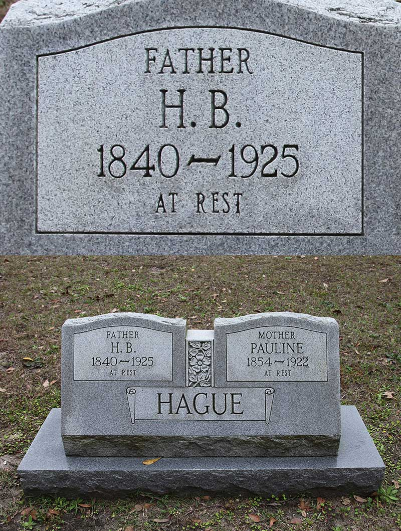 H.B. Hague Gravestone Photo