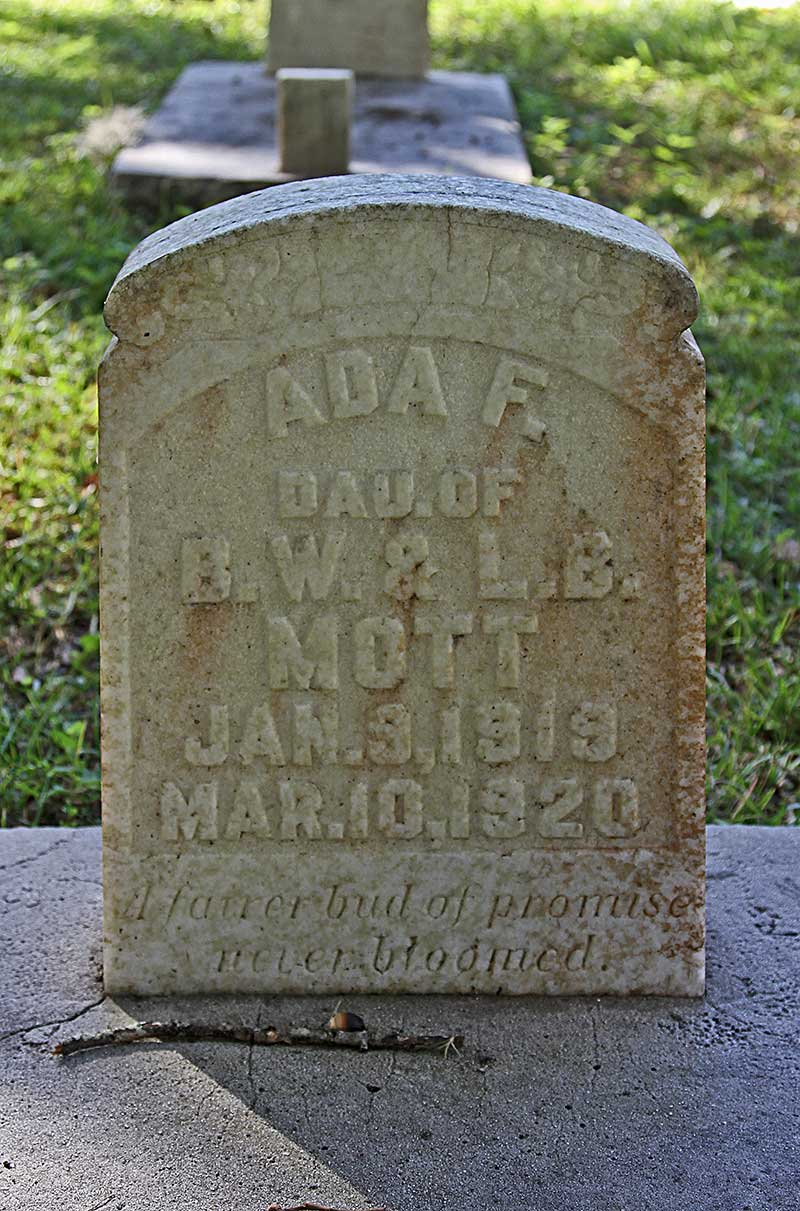 Ada F. Mott Gravestone Photo