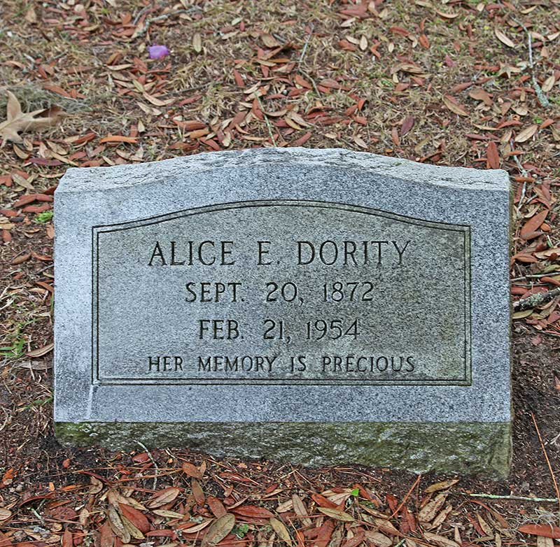Alice E. Dority Gravestone Photo