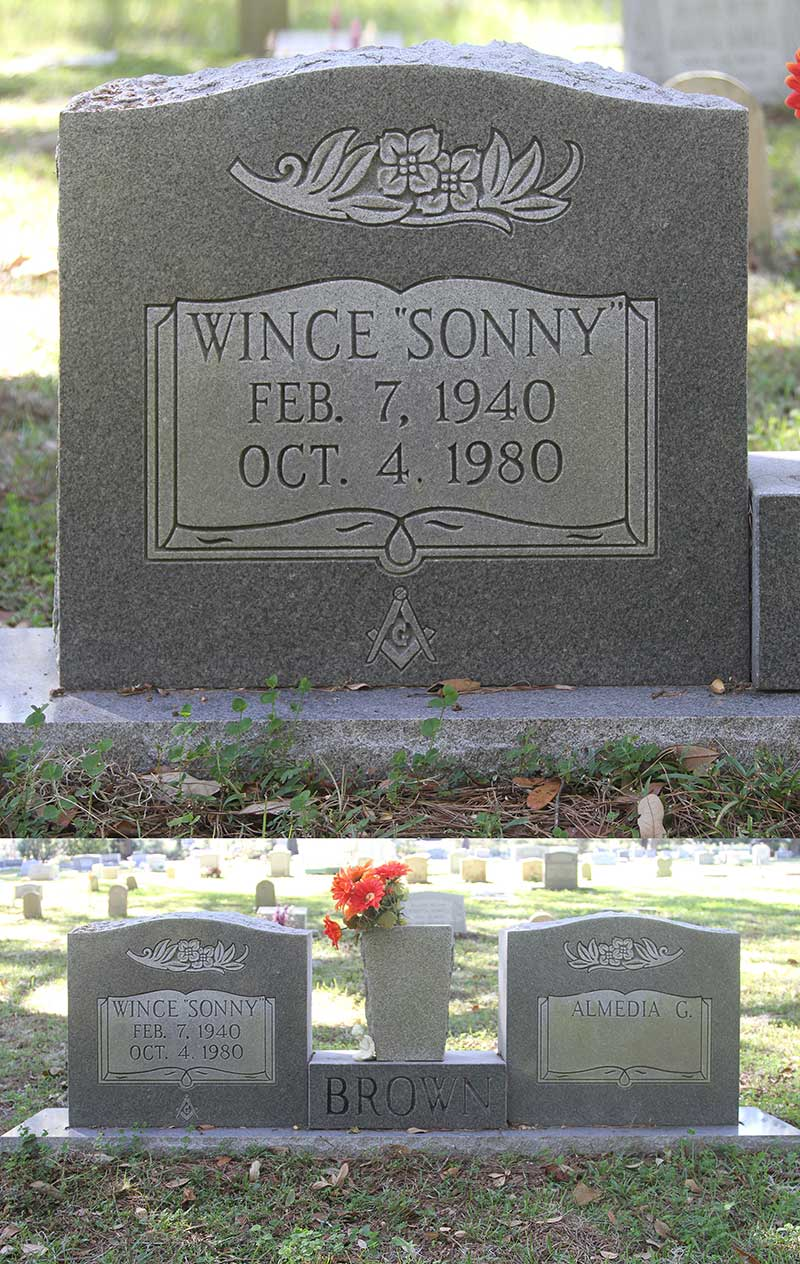 Wince (Sonny) Brown Gravestone Photo