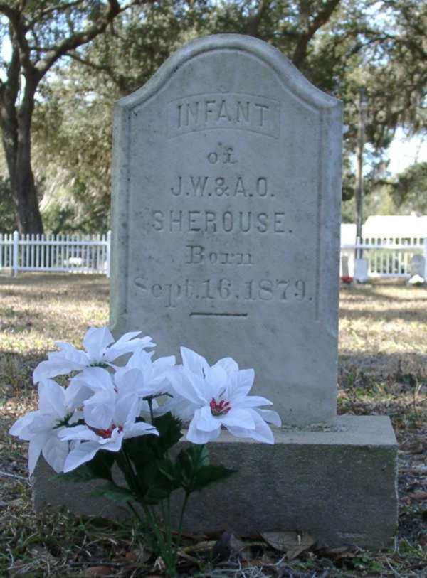 Infant Sherouse Gravestone Photo