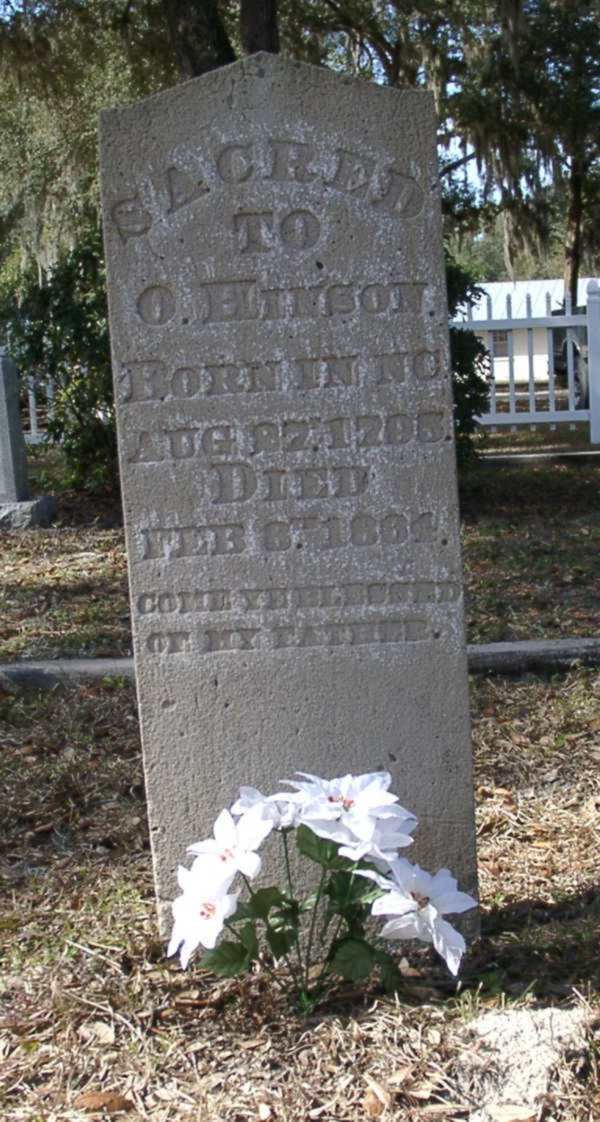 O. Hinson Gravestone Photo
