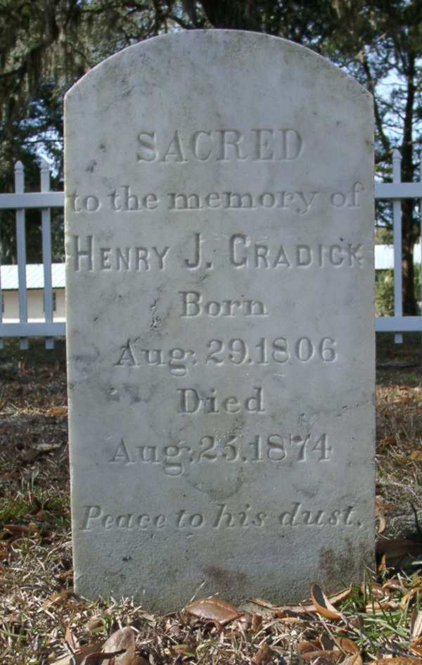 Henry J. Cradick Gravestone Photo