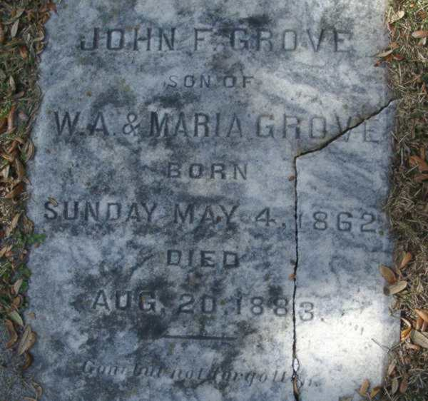 John F. Grove Gravestone Photo