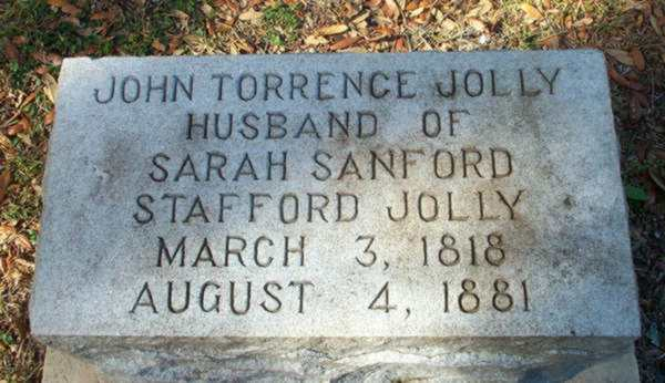 John Torrance Jolly Gravestone Photo