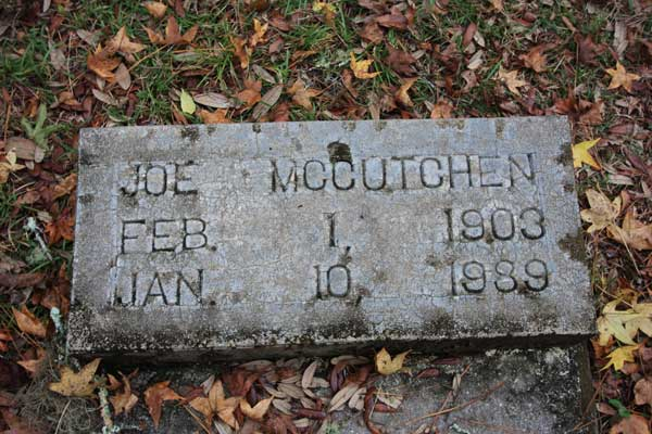 Joe McCutchen Gravestone Photo