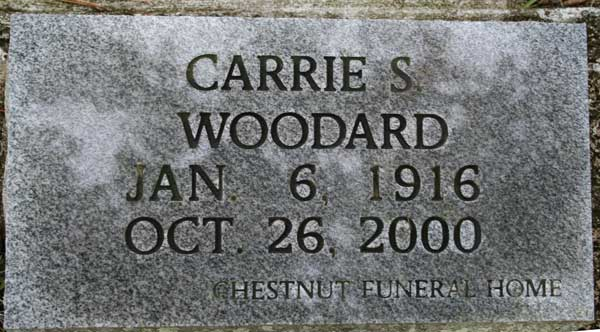Carrie S. Woodard Gravestone Photo