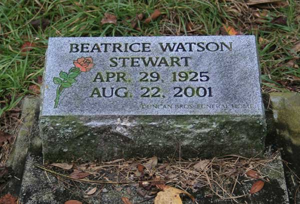 Beatrice Watson Stewart Gravestone Photo