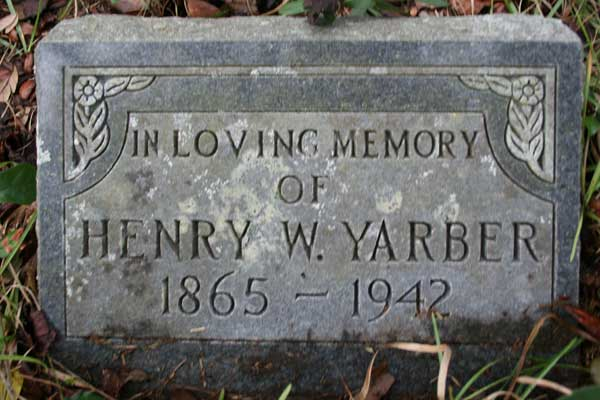 Henry W. Yarber Gravestone Photo