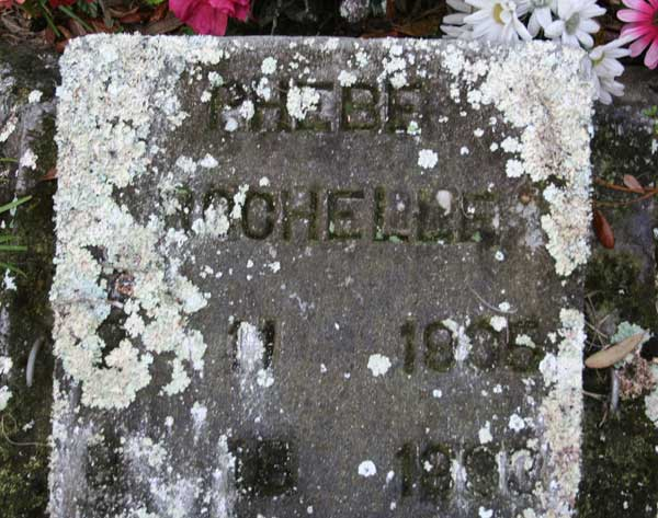 Phebe Rochelle Gravestone Photo
