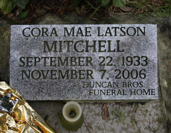 Cora Mae Latson Mitchell Gravestone Photo