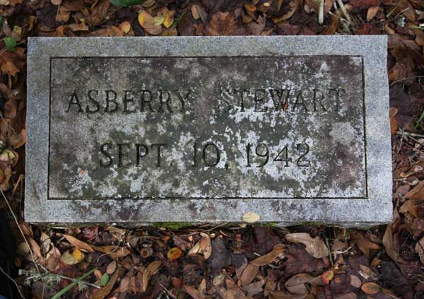 Asberry Stewart Gravestone Photo