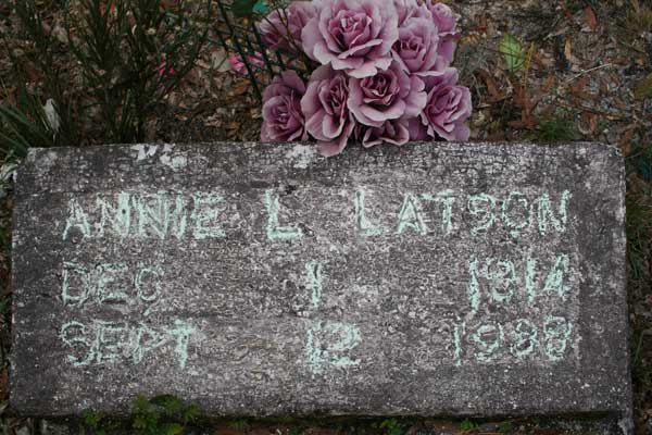 Annie L. Latson Gravestone Photo