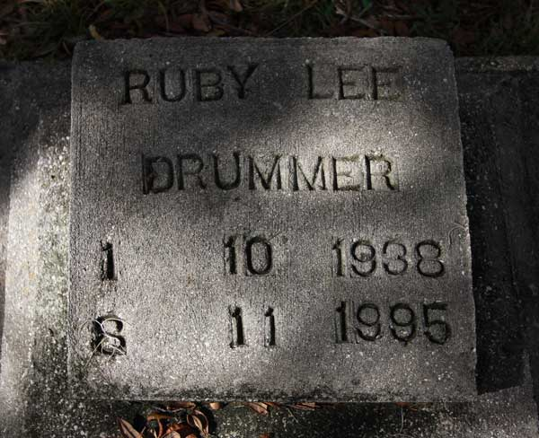 Ruby Lee Drummer Gravestone Photo
