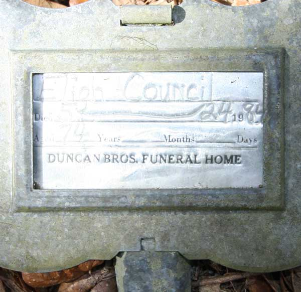 Eligh Council Gravestone Photo