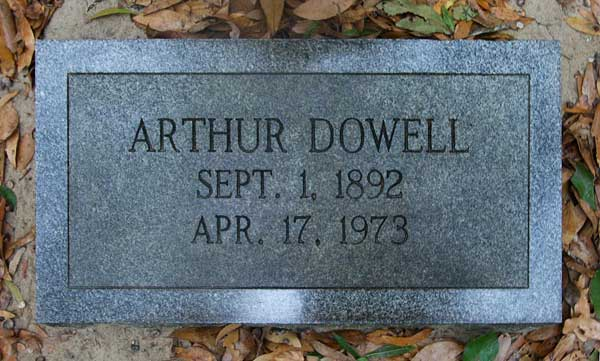 Arthur Dowell Gravestone Photo